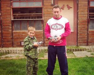 Foto- syn Alexander a vnuk Nikolas